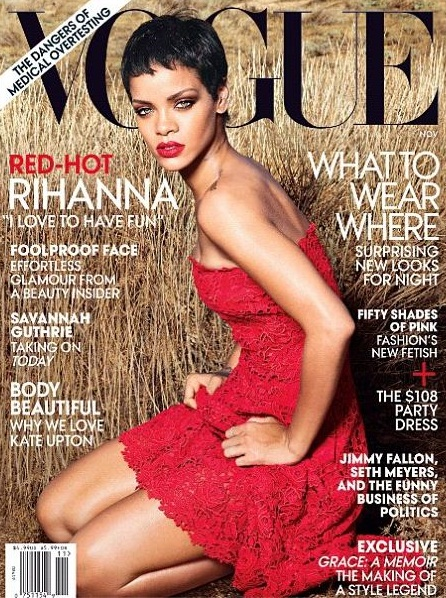 Rihanna's red hot Vogue cover finally revealed