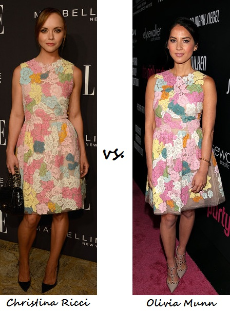 Christina Ricci vs. Olivia Munn in Valentino: Who wore it better?