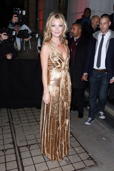 Kate Moss in gold