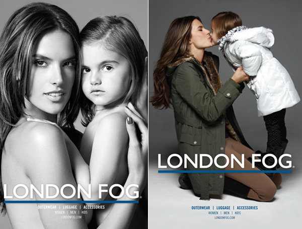 Alessandra Ambrosio poses with adorable daughter for London Fog