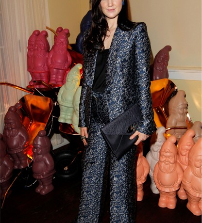 Crushing on Andrea Riseborough's chic Mulberry tux