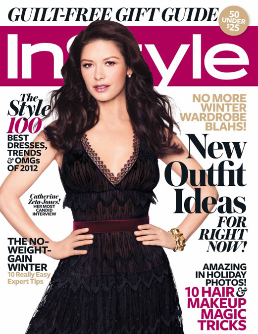 Catherine Zeta Jones talks bipolar disorder and dream wardrobes in InStyle US December