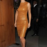 Cheryl Cole outshines everyone in skin-tight leather mustard dress from The Row