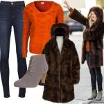 Get Sienna Miller's faux fur look