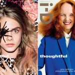 Grace Coddington, Cara Delevingne and Lara Stone for i-D's winter issue