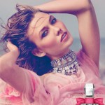 Karlie Kloss poses for Juicy Couture's latest 'Couture La La' perfume