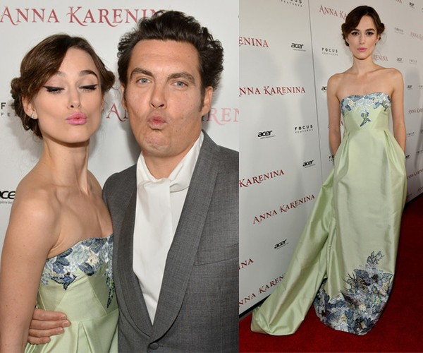 In love with Keira Knightley's bespoke Erdem dress at Anna Karenina premiere