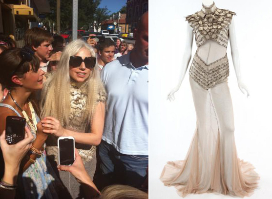 Lady Gaga's blood-stained dress up for auction