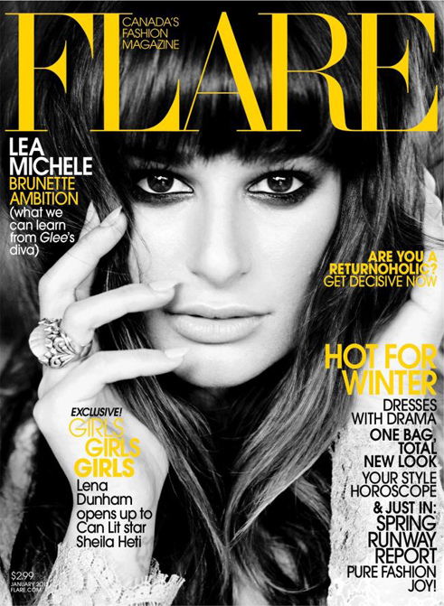 Lea Michele kicks off 2013 with a flawless Flare January cover