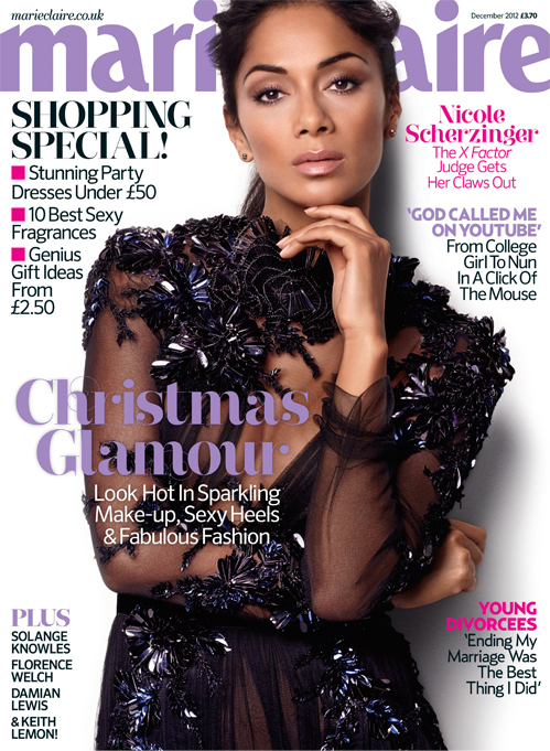 Nicole Scherzinger gets sexy in Gucci for Marie Claire UK December
