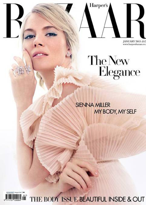Sienna Miller is chic and gorgeous for Harper's Bazaar UK January