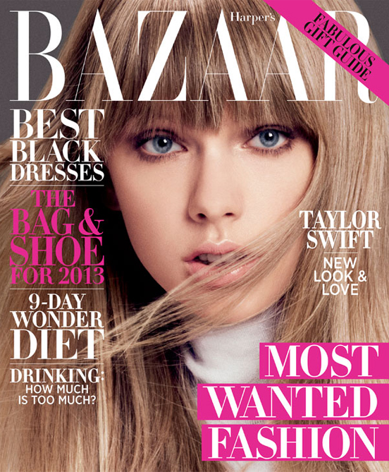 "Taylor Swift: ""If I feel too much like I'm wearing the pants, I start to feel uncomfortable and then we break up"" – Harper's Bazaar US, December"