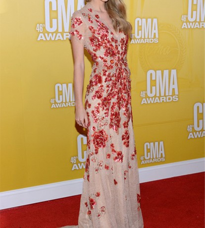 All eyes on Taylor Swift in Jenny Packham at the Country Music Awards