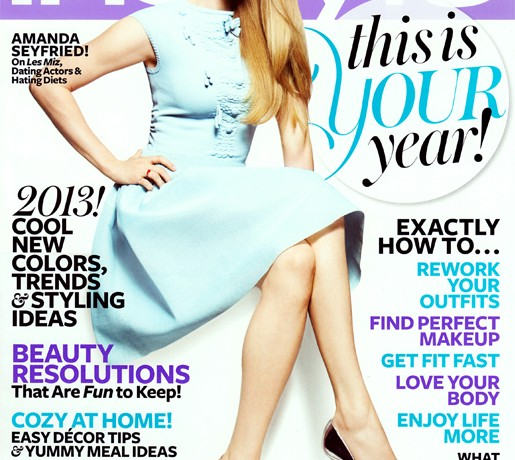 Amanda Seyfried is pastel perfect in Chanel for InStyle US January