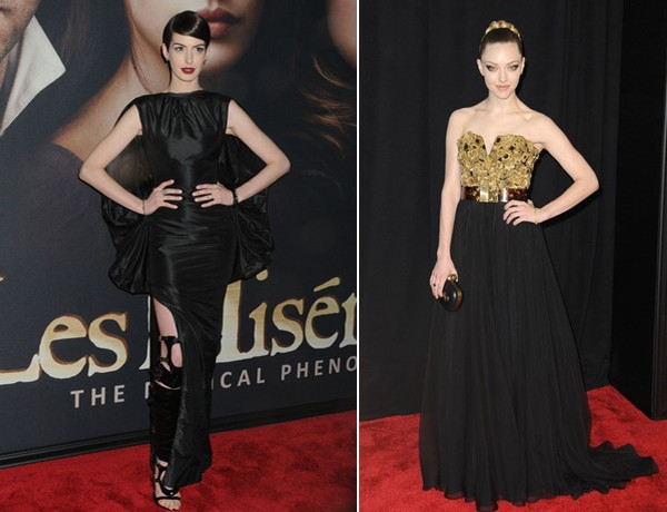 Anne Hathaway and Amanda Seyfried wow for Les Miserables New York premiere