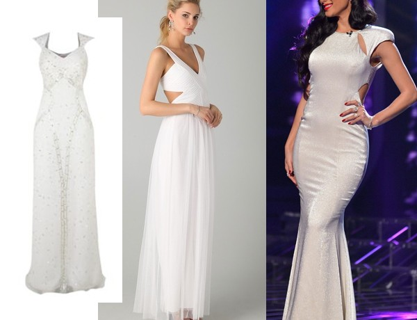 Get Nicole Scherzinger's elegant white X Factor look