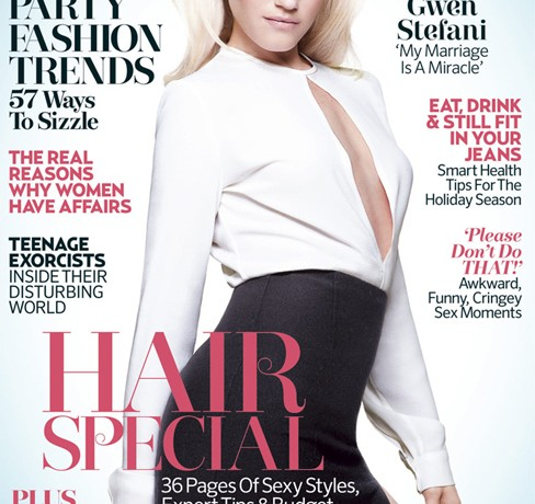 Gwen Stefani looks luscious in L.A.M.B for Marie Claire UK's January issue