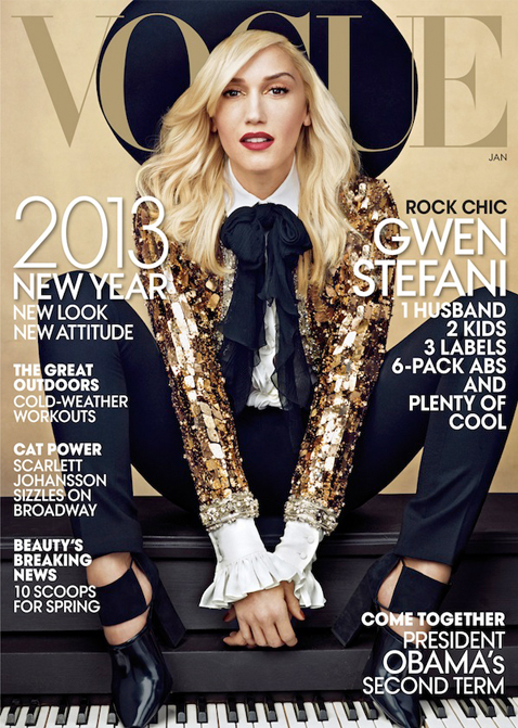Gwen Stefani sparkles in YSL for American Vogue's January issue