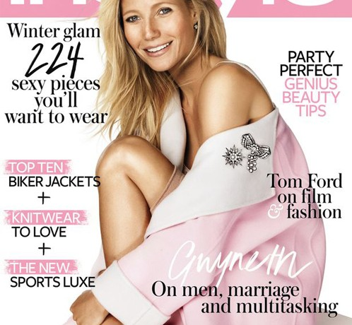 Gwyneth Paltrow pretty in pink for InStyle UK January