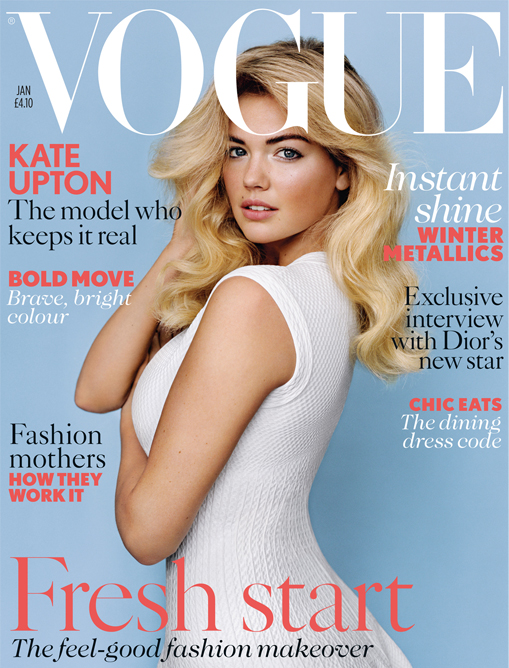 Kate Upton covers British Vogue's January 2013 issue!