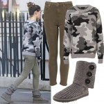 Get Kelly Brook's casual camouflage look