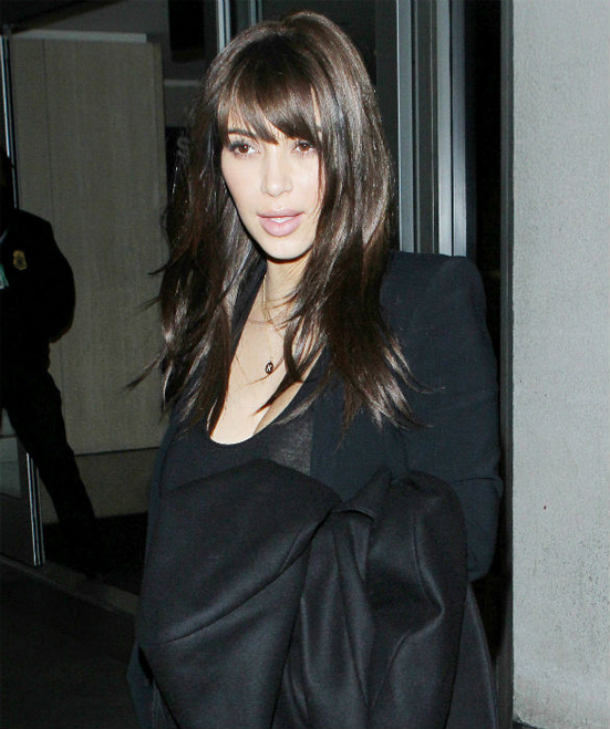 Kim Kardashian's fringe is fake, people!