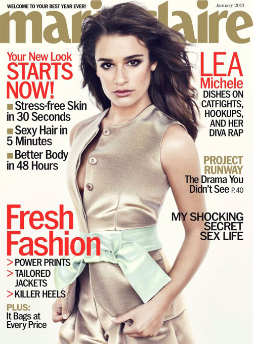 Lea Michele stuns for Marie Claire US January