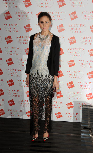 Olivia Palermo goes bold in Alessandra Rich at Valentino exhibition