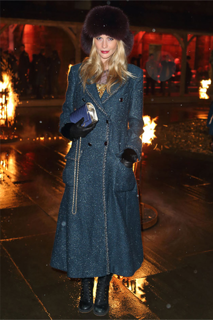 Poppy Delevingne keeps out the Scotland chill in Chanel