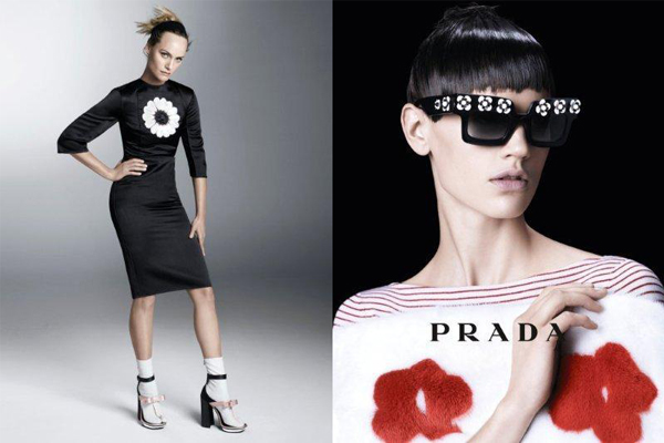 New and veteran supermodels for Prada's Spring 2013 ads