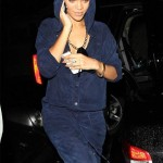 Rihanna steps out in a jumpsuit from her upcoming River Island collection