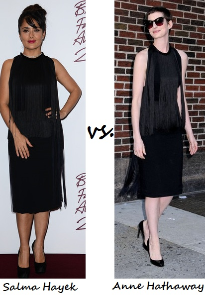 Salma Hayek vs. Anne Hathaway: Who wore Stella McCartney better?