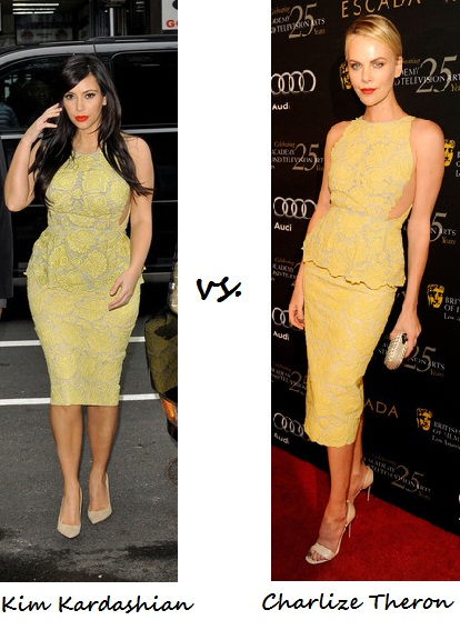 Kim Kardashian vs. Charlize Theron: Who wore Stella McCartney better?