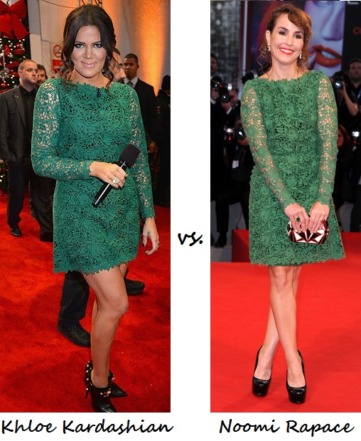 Khloe Kardashian vs. Noomi Rapace: Who wore Valentino better?