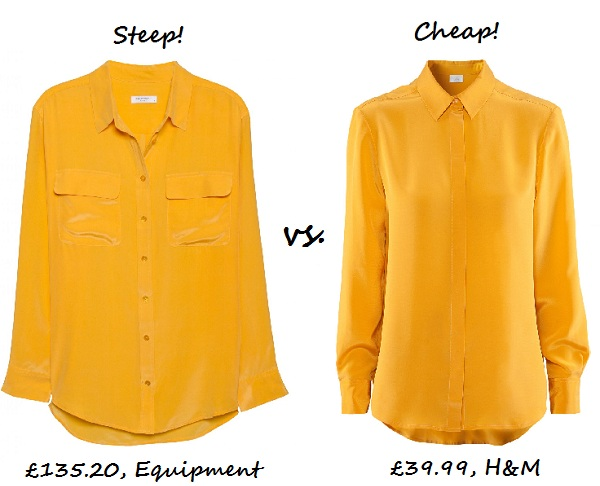 Steep vs. Cheap: Silk shirt