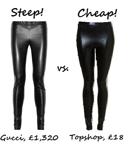 Steep vs cheap wet look leggings image