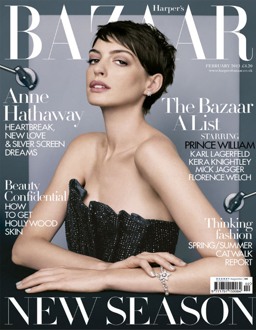 Anne Hathaway underwhelms on Harper's Bazaar UK February