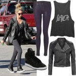 Get Ashley Tisdale's rock chick shopping look