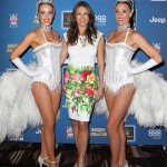 Elizabeth Hurley is fierce in Roberto Cavalli floral