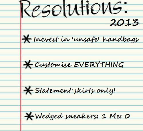 My 5 New Year's (fashion) resolutions
