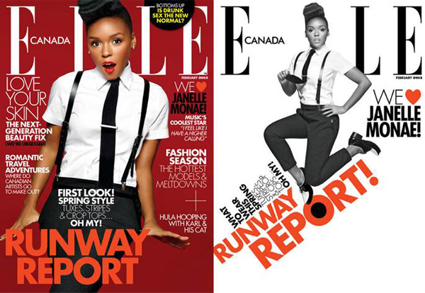 """I feel fearless"" – Janelle Monáe, Elle Canada February"