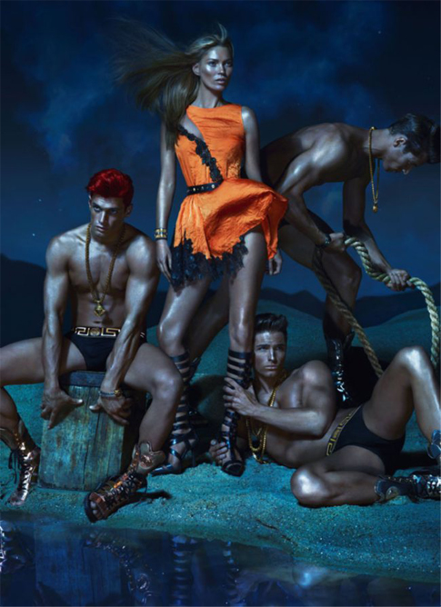 Kate Moss, Joan Smalls and Daria Werbowy smoulder for Versace's SS13 campaign