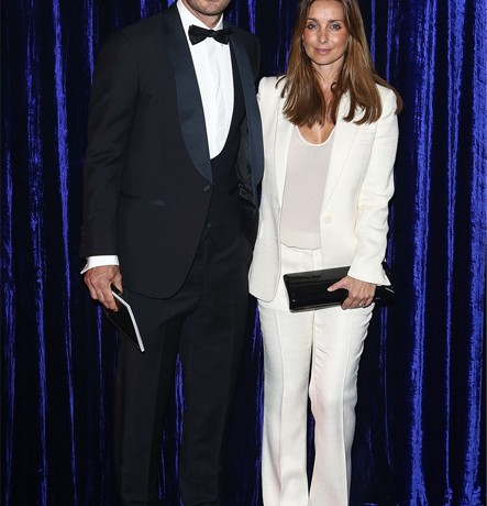 Louise Redknapp and hubby suit up in monochrome