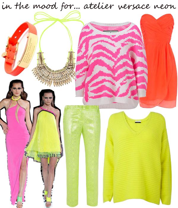 Midweek Moodboard: Atelier Versace inspired neon