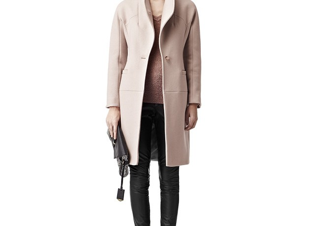 BARGAIN BUY: Reiss Myla nude funnel neck coat