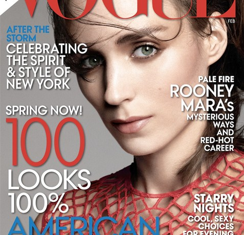 Rooney Mara lands American Vogue's February cover!