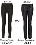 steep v cheap leather trousers