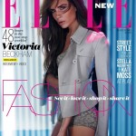 Victoria Beckham in Burberry for Elle UK's revamped March issue