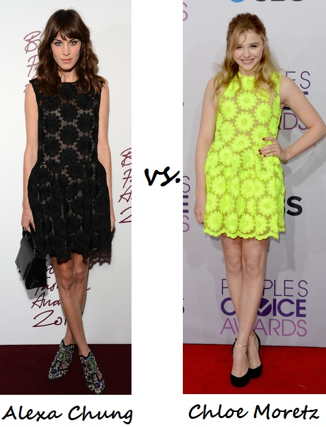 Alexa Chung vs. Chloë Moretz: Who wore Simone Rocha better?