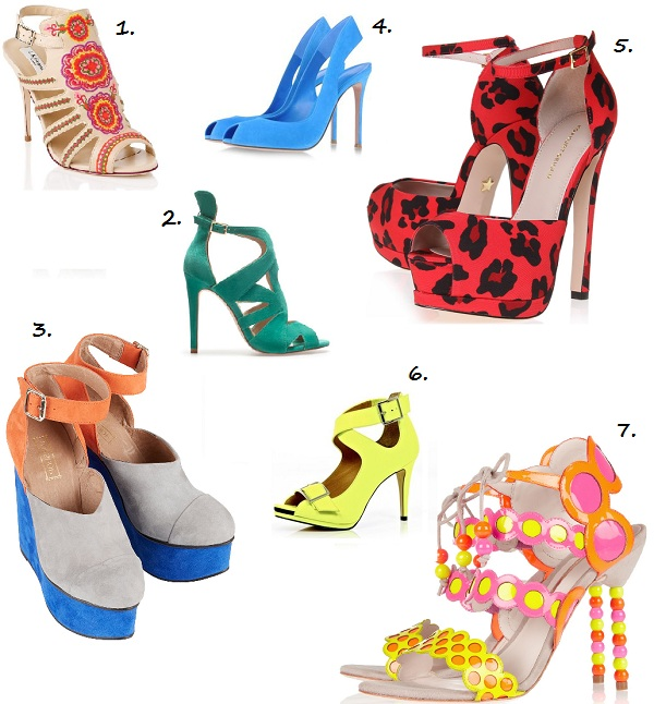 Step into spring with these fab coloured heels!